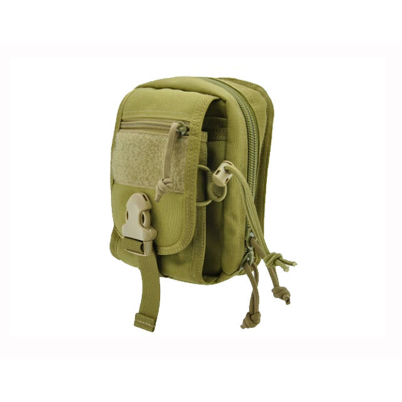 Small tools Molle bag is made of the fabric such as canvas