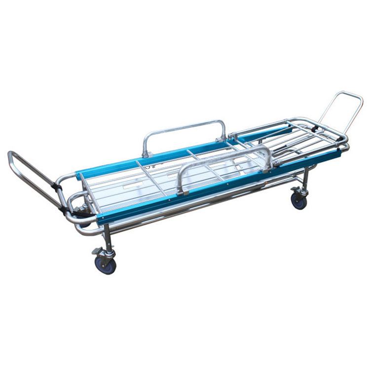 Hospital automatic loading folding ambulance Stretcher trolley suppliers