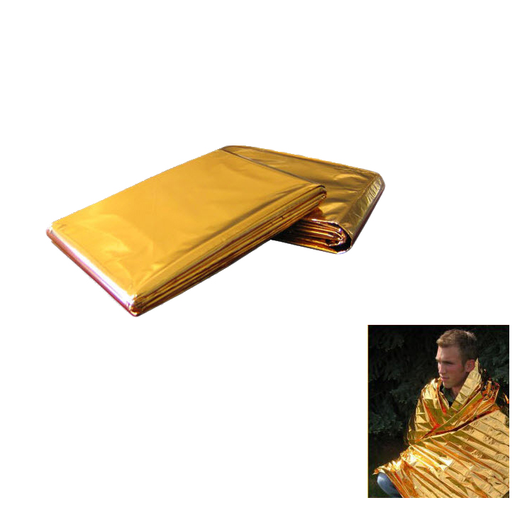 Heavy duty PE material existence known as space blanket emergency blanket